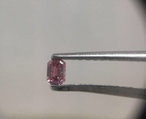 0.15ct EMERALD CUT FANCY INTENSE PINK I1 – Sold