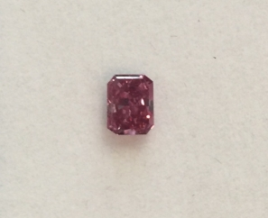 0.26ct Cut-Cornered Rectangular Mixed Cut Fancy Purple Red VS2 – Sold