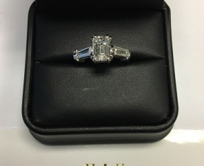1.74 ct Emerald Cut Internally Flawless Diamond Engagement Ring – Sold