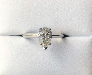 1.21 ct Pear Shape VS2 G color Diamond Engagement Ring – Sold