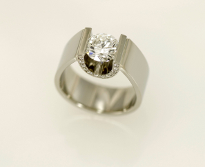 1.51CT ROUND BRILLIANT PLATINUM SETTING F COLOR DIAMOND RING – SOLD