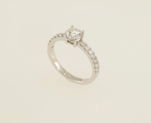 0.62CT ROUND BRILLIANT F COLOR DIAMOND RING – SOLD