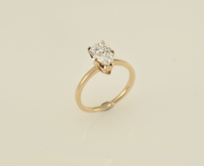 1.52CT PEAR BRILLIANT GOLD E COLOR DIAMOND RING – SOLD