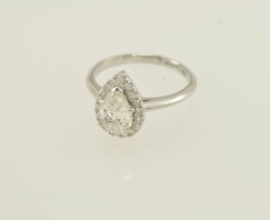 1.21CT PEAR SHAPE VS2 G COLOR DIAMOND RING – SOLD