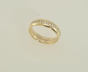 1.05 CT ROUND BRILLIANT 14K YELLOW GOLD MENS DIAMOND RING